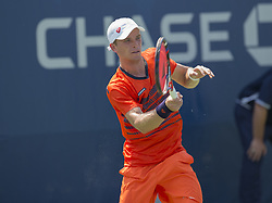 August 22, 2017 - New York, New York, United States - Alexey Vatutin of Russia returns ball during qualifying game against Sergiy Stakhovsky of Ukraine at US Open 2017 (Credit Image: © Lev Radin/Pacific Press via ZUMA Wire)