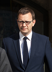 Image ©Licensed to i-Images Picture Agency. 24/06/2014. London, United Kingdom. Hacking trial: Former News of the World editor Andy Coulson leaves court today after being found guilty at the Old Bailey of conspiring to hack phones. Old Bailey. Picture by Daniel Leal-Olivas / i-Images
