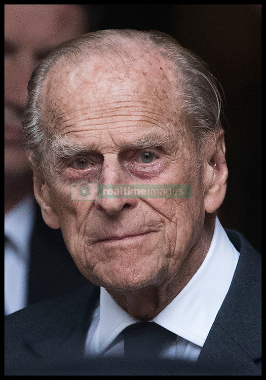 June 27, 2017 - London, London, United Kingdom - Image licensed to i-Images Picture Agency. 27/06/2017. London, United Kingdom.  The Duke of Edinburgh leaving the funeral of Countess Mountbatten of Burma at  St.Paul's church in Knightsbridge, London. Picture by Stephen Lock / i-Images (Credit Image: © Stephen Lock/i-Images via ZUMA Press)