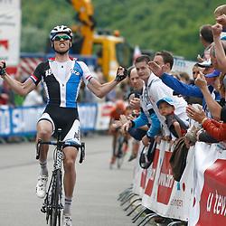 Sportfoto archief 2013<br /> Lars Boom wint de etappe van Verviers naar La Gileppe voor Davide Rebellin en Maurits Lammertink