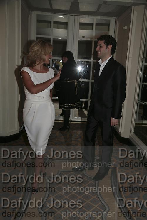 Katherine Jenkins and Juan Diego Florez, The South Bank Show Awards, Savoy Hotel. London. 23 January 2007.  -DO NOT ARCHIVE-© Copyright Photograph by Dafydd Jones. 248 Clapham Rd. London SW9 0PZ. Tel 0207 820 0771. www.dafjones.com.