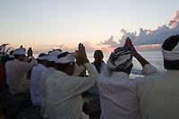 The Melasti Ceremony on Padanggalak Beach