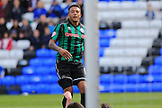 Goal Nathaniel Mendez-Laing watches the ball hit the net 0-2 during the Sky Bet League 1 match between Peterborough United and Rochdale at London Road, Peterborough, England on 9 April 2016. Photo by Daniel Youngs.