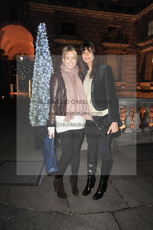Left to right, CAROLINE HABIB and LISA BILTON at a Winter Party given by Tiffany & Co. Europe to launch the 10th season of Somerset House's Ice Skating Rink at Somerset House, The  Strand, London on 16th November 2009.