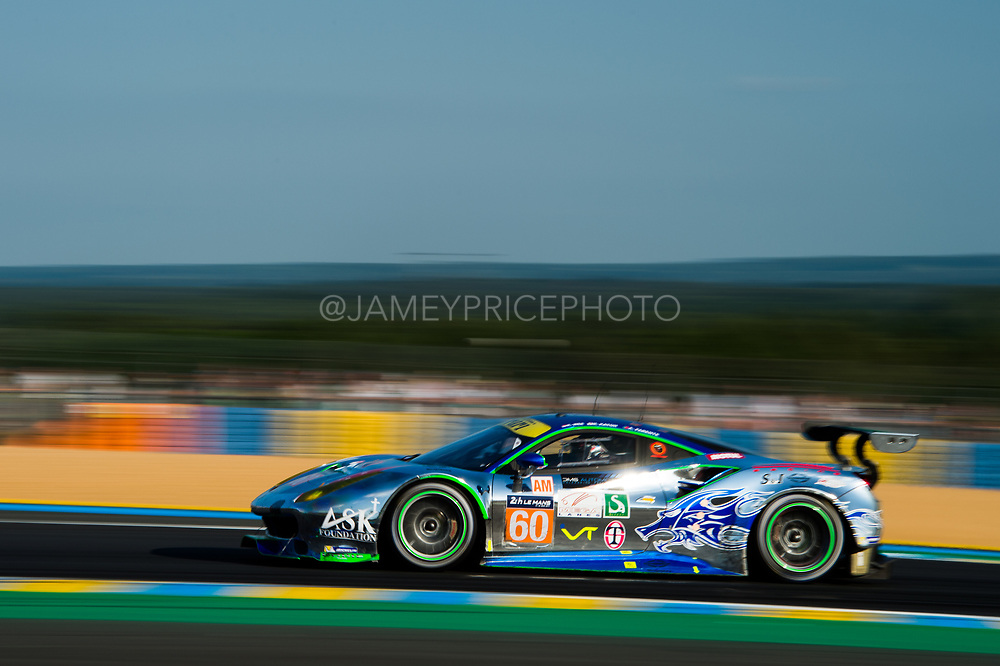 June 13-18, 2017. 24 hours of Le Mans. 60 Clearwater Racing, Ferrari 488 GTE, Richard Wee, Alvaro Parente, Hiroki Katoh