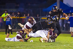 27 September 2019: LeRoy Panthers at Tri Valley Vikings boys HOIC (Heart of Illinois Conference) football, Heyworth Illinois<br /> <br /> 2, 32
