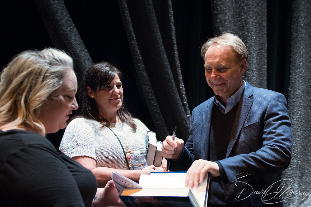 Author Dan Brown backstage after speaking on a Writers on a New England Stage show at The Music Hall in Portsmouth, NH