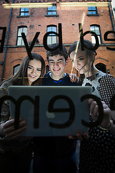 Repro Free: 04/02/2013.Young Fair City actors Niamh Quirke, (16), (aka Rachel Brennan),.Kevin Joyce (16) (aka Zak Dillon) and Martha Fitzpatrick (16) (aka Charlotte Bishop) pictured at an event to mark Safer Internet Day and to launch A new cyber bullying report. Safer Internet Day 2013 marks the launch of two new initiatives for 2013 - The 'Watch your Space' public awareness anti cyber-bullying campaign and a new Garda Primary Schools Programme module 'Connect with Respect', which deals with online bullying. For further information visit, www.watchyourspace.ie. Picture Andres Poveda