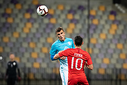 Phil Folden of England during friendly Football match between U21 national teams of Slovenia and England, on October 11, 2019 in Ljudski Vrt, Maribor, Slovenia. Photo by Blaž Weindorfer / Sportida