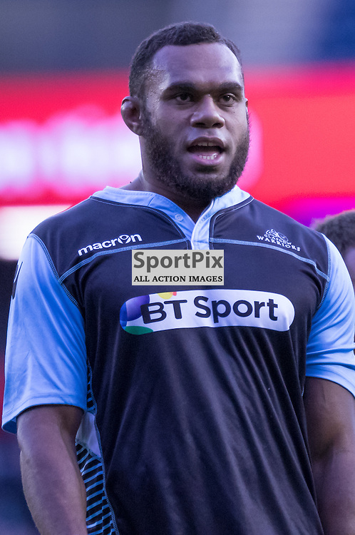 Glasgow #4. Leone Nakarawa during the warm up.  Edinburgh Rugby v Glasgow Warriors, 27th December 2015