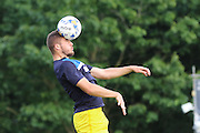 AFC Wimbledon defender Ryan Sweeney (20) prior the Pre-Season Friendly match between Woking and AFC Wimbledon at the Kingfield Stadium, Woking, United Kingdom on 29 July 2016. Photo by Stuart Butcher.