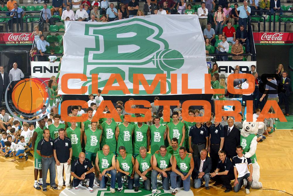 DESCRIZIONE : Treviso Precampionato Lega A1 2006-07 Memorial Bortoletto Benetton Treviso Cska Mosca <br />GIOCATORE : Team Treviso 25mo anniversario  <br />SQUADRA : Benetton Treviso <br />EVENTO : Precampionato Lega A1 2006-2007 Memorial Bortoletto <br />GARA : Benetton Treviso Cska Mosca <br />DATA : 27/09/2006 <br />CATEGORIA :  <br />SPORT : Pallacanestro <br />AUTORE : Agenzia Ciamillo-Castoria/M.Marchi