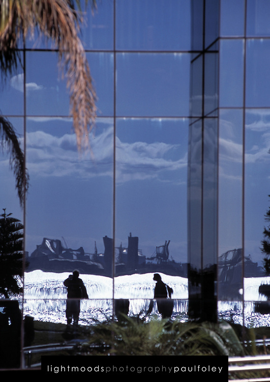 Reflection of Newcastle Harbour