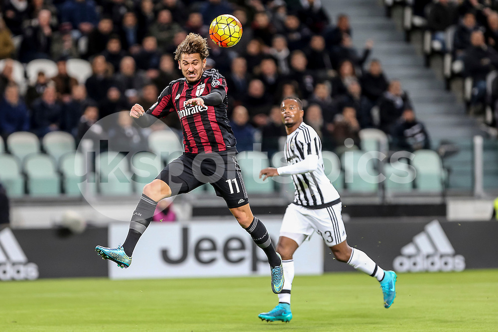 Alessio Cerci of AC Milan in action during the Serie A TIM match between Juventus and AC Milan at the Juventus Stadium, Turin, Italy on 21 November 2015. Photo by sync studio.