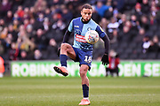 Wycombe Wanderers midfielder Curtis Thompson(18) controls the ball during the EFL Sky Bet League 1 match between Milton Keynes Dons and Wycombe Wanderers at stadium:mk, Milton Keynes, England on 1 February 2020.