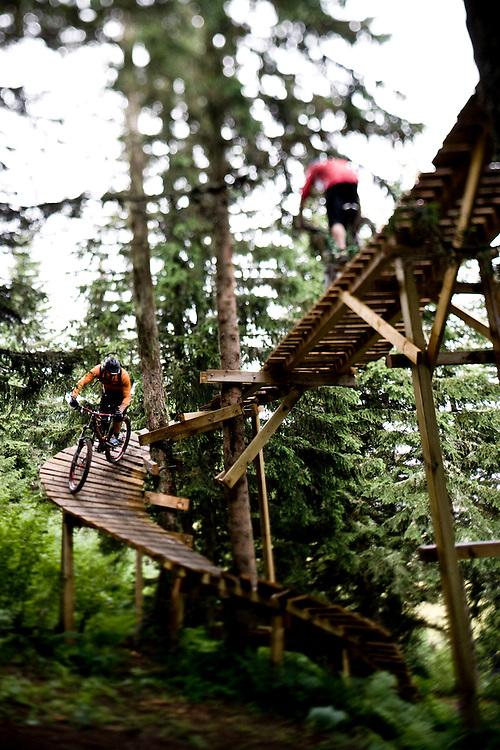 Fraser McNeil & Tibor Simai ride Chamonix' short-lived bike park, France.
