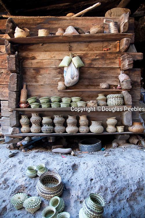 Baskets, Tarahumara indian village, Creel, Copper Canyon, Chihuaua, Mexico