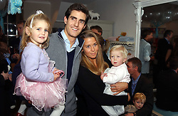 The EARL & COUNTESS COMPTON he is the son and heir of the Marquess of Northampton and their children LADY ANASTASIA COMPTON and LADY THEODORA COMPTON at a party to celebrate the opening of children's store Chippi Hacki at 8 Motcomb Street, London, SW1 on 24th November 2004.<br />