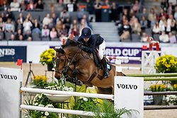 KARLSSON Irma (SWE), Chacconu<br /> Göteborg - Gothenburg Horse Show 2019 <br /> Gothenburg Trophy presented by VOLVO - Stechen<br /> Int. jumping competition with jump-off (1.55 m)<br /> Longines FEI Jumping World Cup™ Final and FEI Dressage World Cup™ Final<br /> 06. April 2019<br /> © www.sportfotos-lafrentz.de/Stefan Lafrentz