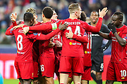 Goal Liverpool midfielder Naby Keïta (8) celebrates 0-1 during the Champions League match between FC Red Bull Salzburg and Liverpool at the Red Bull Arena, Salzburg, Austria on 10 December 2019.