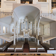 Scale model of a church with a C.B. Fisk organ to be installed at Christ Church Episcopal, Philadelphia, PA