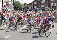 TWICKENHAM - JULY 28: Men's Olympic Road Cycle Race, Twickenham, Middlesex, UK. July 28, 2012. (Photo by Richard Goldschmidt)