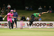 Stags Blair Tickner bowling during the Burger King Super Smash Twenty20 cricket match Knights v Stags played at Bay Oval, Mount Maunganui, New Zealand on Wednesday 27 December 2017.<br /> <br /> Copyright photo: &copy; Bruce Lim / www.photosport.nz