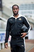 Newcastle United midfielder Vurnon Anita (#8) arrives at S James's Park ahead of the EFL Sky Bet Championship match between Newcastle United and Barnsley at St. James's Park, Newcastle, England on 7 May 2017. Photo by Craig Doyle.