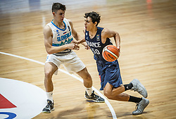 Nemanic  Rok of Slovenia vs Barbitch  Milan of France during basketball match between National teams of Slovenia and France in the Group Phase C of FIBA U18 European Championship 2019, on July 27, 2019 in Nea Ionia Hall, Volos, Greece. Photo by Vid Ponikvar / Sportida