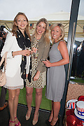 DARIA TURER; ALESSANDRA ELIA; HAYLEIGH O'FARRELL, Charlie Gilkes and Duncan Stirling host Inception Group's Hamptons Garden party on the rooftop garden of the Ballymore marketing suite overlooking the site of the new US embassy. Embassy Gardens, London SW8.  12 July 2012.