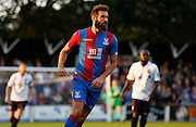 Joe Ledley in action during the Pre-Season Friendly match between Bromley and Crystal Palace at the Courage Stadium, Bromley, United Kingdom on 30 July 2015. Photo by Michael Hulf.