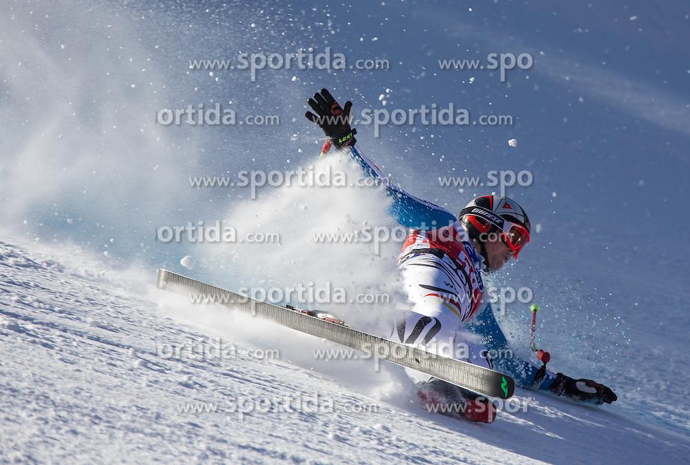 27.12.2013, Stelvio, Bormio, ITA, FIS Ski Weltcup, Bormio, Abfahrt, Herren, 1. Traininglauf, im Bild Klaus Brandner (GER) bei seinem Sturz // Klaus Brandner of Germany when he fell during mens 1st downhill practice of the Bormio FIS Ski Alpine World Cup at the Stelvio Course in Bormio, Italy on 2012/12/27. EXPA Pictures © 2013, PhotoCredit: EXPA/ Johann Groder