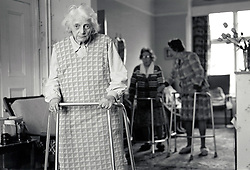 Residential old age care, Nottingham 1986, UK