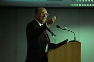 Sao Paulo, SP, Brasil, 18/06/2007, 14h36: O ministro Henrique Meirelles, presidente do Banco Central, durante almoco-palestra na Amcham (Camara Americana do Comercio) na zona sul de Sao Paulo. foto:Caio Guatelli/