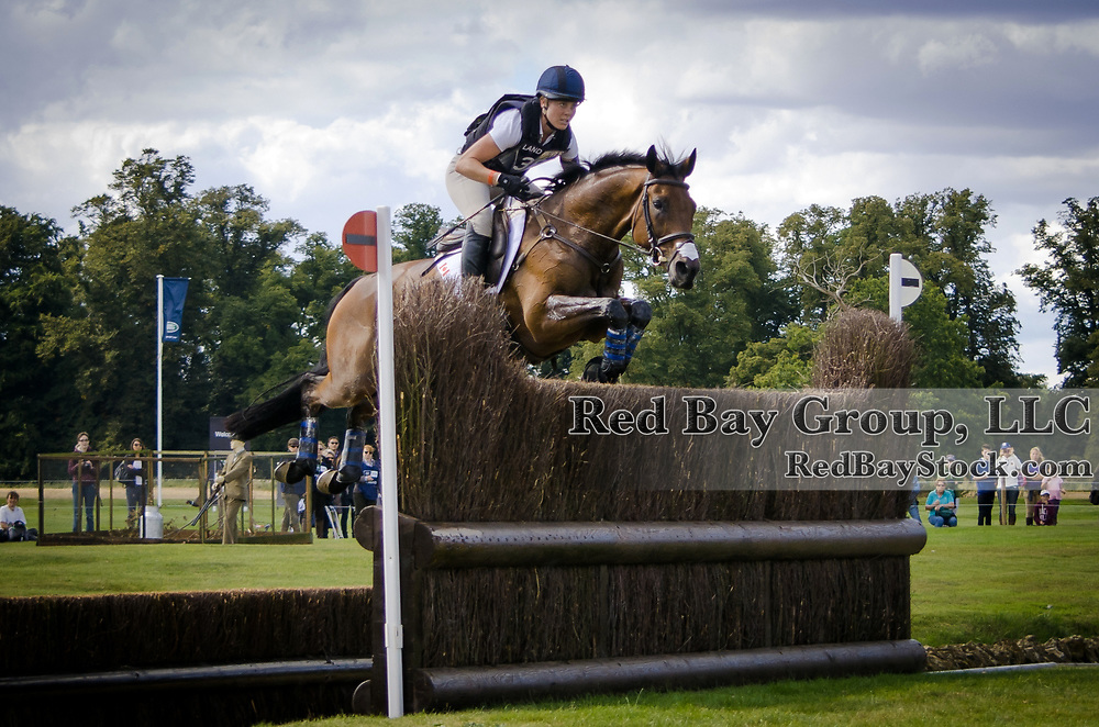 Rebecca Howard (CAN) and Riddle Master at the 2013 Land Rover Burghley Horse Trials, Stamford, UK.