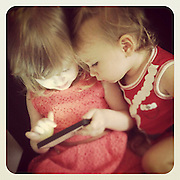 Children Playing with smart phone