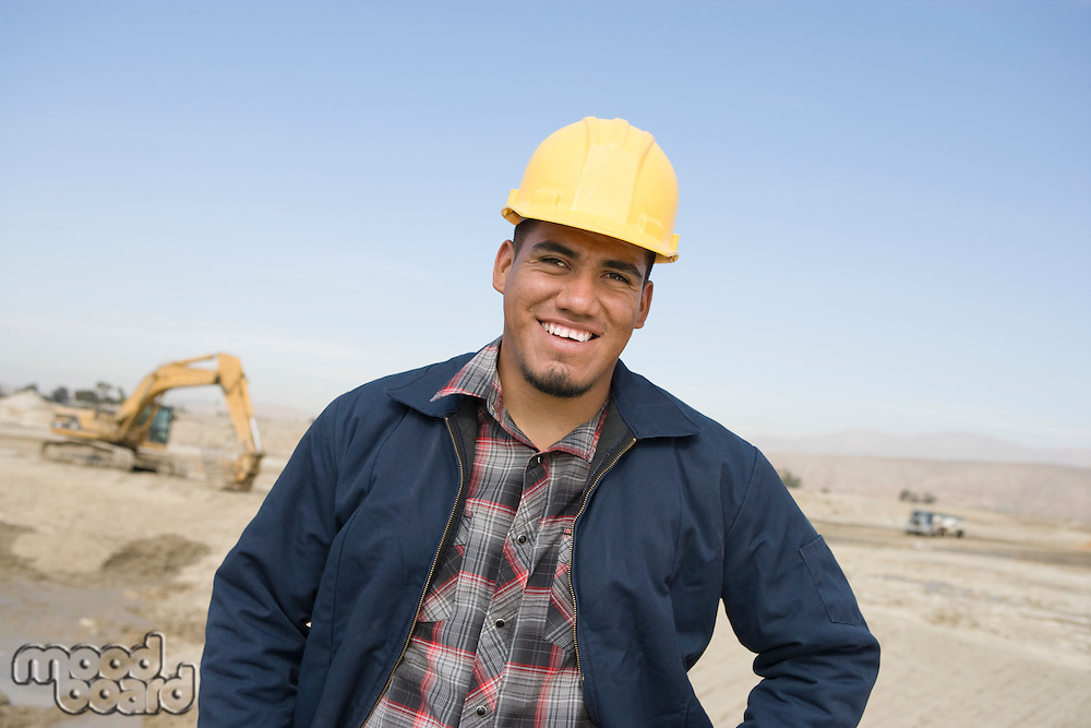 Construction worker on site, portrait