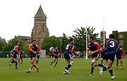 Photo: Richard Lane.<br /> New Zealand Maori training at Rugby School. Barclays Churchill Cup 2007. 21/05/2007.<br /> New Zealand Maori team go through their paces.
