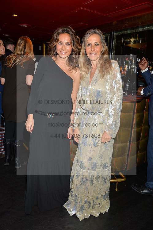 Left to right, SHARON KRIEF and BARBARA BOCCARA founders of ba&sh at a party to celebrate the UK launch of French fashion label ba&sh at The Arts Club, Dover Street, London on 15th March 2016.