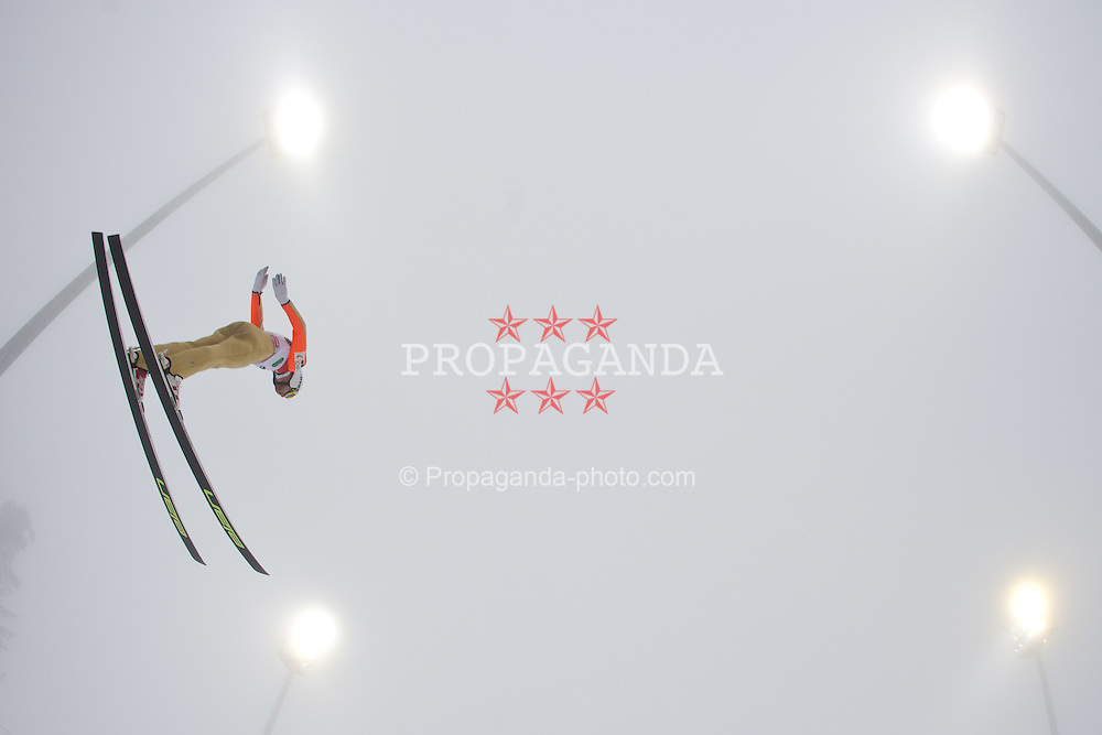 11.12.2011, Ramsau am Dachstein, AUT, FIS Nordische Kombination, Ski Sprung, im Bild Mitja Oranic (SLO) // Mitja Oranic of Slovenia during Ski jumping at FIS Nordic Combined World Cup in Ramsau, Austria on 2011/12/11. EXPA Pictures © 2011, PhotoCredit: EXPA/ Johann Groder