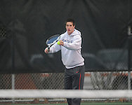 Oxford High's Arlis Williams vs. Alcorn Central in high school tennis action at Avent Park in Oxford, Miss. on Tuesday, February 26, 2013.