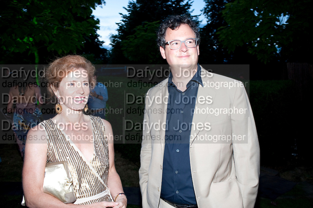 MANUELA WIRTH; IVAN WIRTH, The Summer Party. Serpentine Gallery. 8 July 2010. -DO NOT ARCHIVE-© Copyright Photograph by Dafydd Jones. 248 Clapham Rd. London SW9 0PZ. Tel 0207 820 0771. www.dafjones.com.