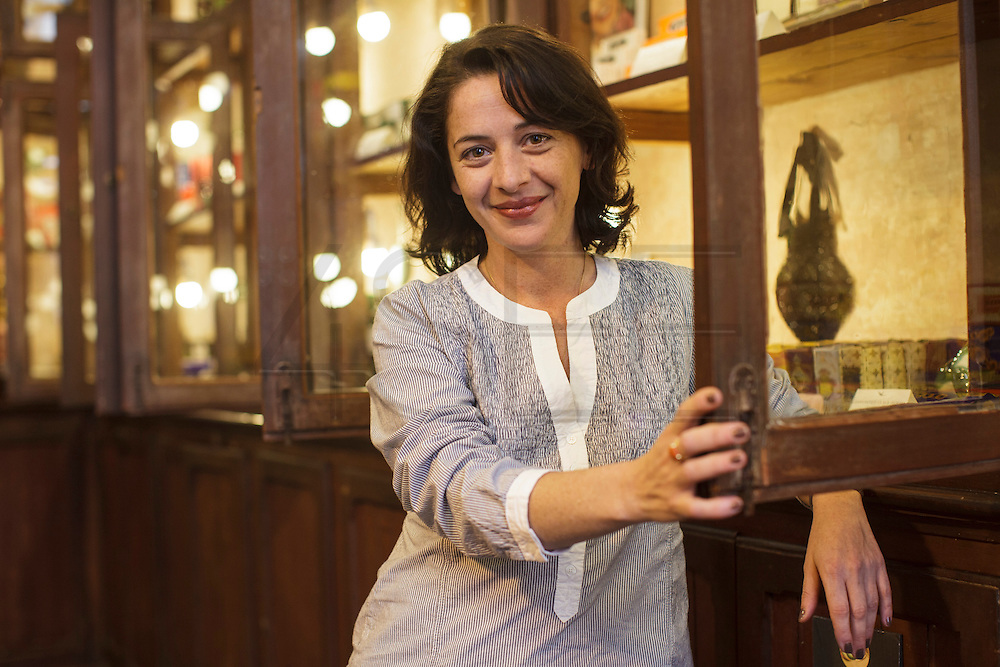 """Portrait of Catarina Portas, owner of the shop """"A vida portuguesa"""" (Portuguese Life) in Lisbon's Chiado district, that sells vintage portuguese goods that range from original ceramics from Rafael Bordalo Pinheiro creations, to soaps, notebooks and canned fish. Catarina was nominated by Monocle one of the 20 people in the world that deserved a bigger stage."""