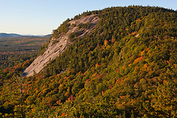 White Horse Ledge as seen from Cathedral Ledge in Echo Lake State Park, North Conway, New Hampshire.
