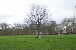 © Licensed to London News Pictures. 17/03/2020. London, UK. Green Park is empty of visitors as the Coronavirus outbreak spreads in London. Photo credit: Ray Tang/LNP