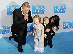 Alec Baldwin, Carmen Baldwin, Hilaria Baldwin and Rafael Baldwin attending The Boss Baby premiere at AMC Loews Lincoln Square 13 theater on March 20, 2017 in New York City, NY, USA. Photo by Dennis Van Tine/ABACAPRESS.COM