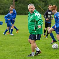 Niall Harrison, National Coordinator of the FAI Emerging Talent programme coaching U13 Clare Soccer team