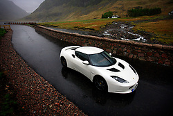 UK SCOTLAND GLENCOE 7MAY09 - The Lotus Evora during road testing in Glencoe, Scotland. The first all-new Lotus since the iconic Elise roadster made its debut in 1995,.the Evora enters the sports car market as the world's only production midengined 2+2...jre/Photo by Jiri Rezac..© Jiri Rezac 2009