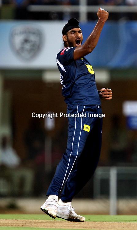 Deccan Chargers Bowler Jaskaran Singh Celebrates  Mumbai Indians Batsman Shikhar Dhawan Wicket During The Deccan Chargers vs Mumbai Indians, 25th Twenty20 match Indian Premier League- 2009/10 season Played at Dr DY Patil Sports Academy, Mumbai 28 March 2010 - day/night (20-over match)