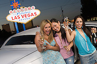 Three women having fun in Las Vegas, Nevada, USA